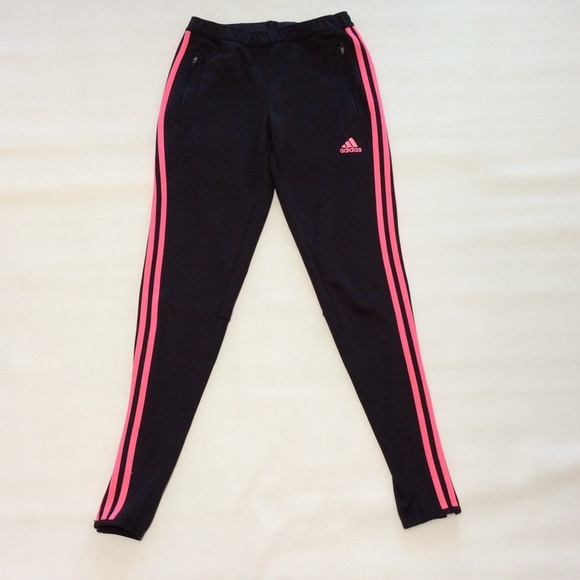 e8d6411282 Adidas Black/Pink Climacool Joggers Ankle Zip